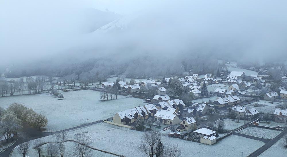 Genos, premières neige